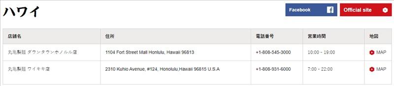 丸亀製麵:ハワイ